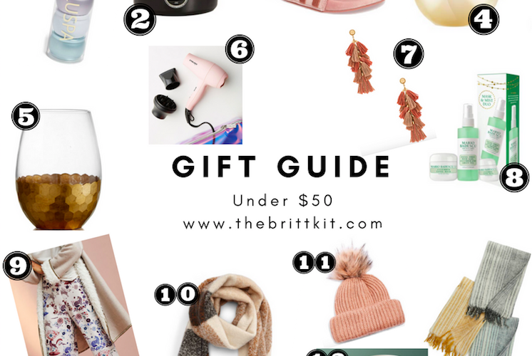 GIFT GUIDE – UNDER $50